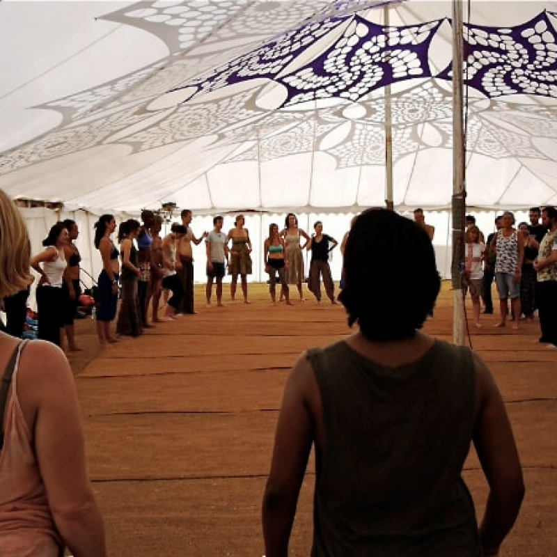 Tantric Trance Dance Standing Circle