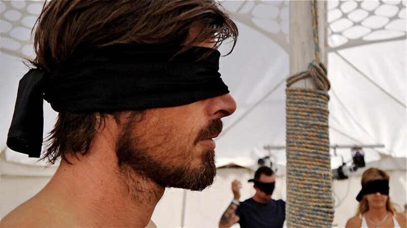 Tantric Trance Dance Participant with Blindfold