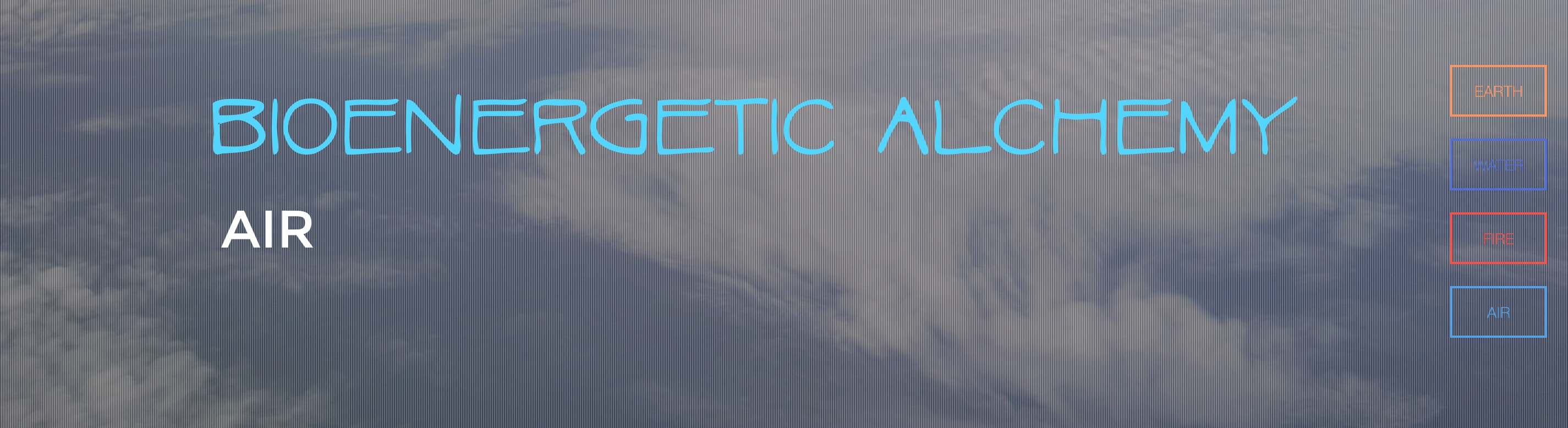Bioenergetic Alchemy Air